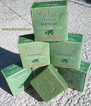 Bild mit 5 Stück Olivenseife aus Aleppo.